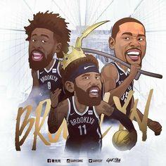 Basketball Videos, Basketball Art, Brooklyn's Finest, Nba Wallpapers, Brooklyn Nets, Kyrie Irving, Kevin Durant, Nba Players, Wallpaper Backgrounds
