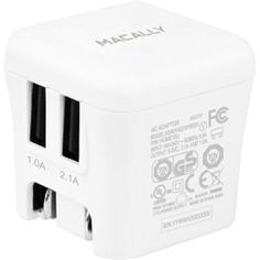 MacAlly 15w 2 USB Port Wall Charger HOME15U https://foxgatemarketing.com/product/macally-15w-2-usb-port-wall-charger-home15u/ 15W Two USB Port Wall ChargerFor iPad iPhone iPod smartphones and tablets