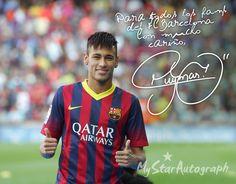 Get Neymar's autograph at http://neymarjr.mystarautograph.com Consigue el autógrafo de Neymar en http://neymarjr.mystarautograph.es    Autograph, autógrafo, Neymar, FCB, Barça, Brasil, Star, Forward, Best, NeymarJr