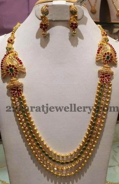 Jewellery Designs: Gundla Haram 2.5 Lakhs Worth