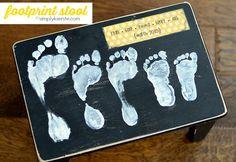 footprint stool | simplykierste.com