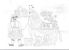 ...Το Νηπιαγωγείο μ' αρέσει πιο πολύ.: Σκίτσα από τα Ελληνάκια Spring School, 25 March, Special Day, Moose Art, Projects To Try, Arts And Crafts, Textiles, Peace, Embroidery