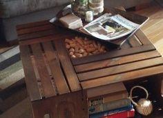 archivos inspiración - mesa de café hecha de cajas de vino de bricolaje vintage chic