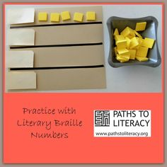 This activity helps students learn numbers in literary braille, using a format similar to what print readers in the classroom are doing.