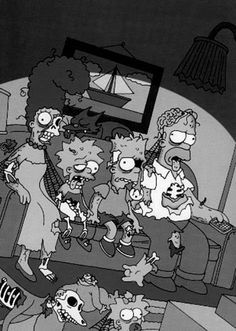 The Zombie Simpsons Family.
