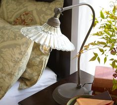 fluted glass task lamp
