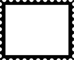 KLDezign les SVG  postage stamp frame svg cut file  put santa and reindeer in it and you have a letter to Santa
