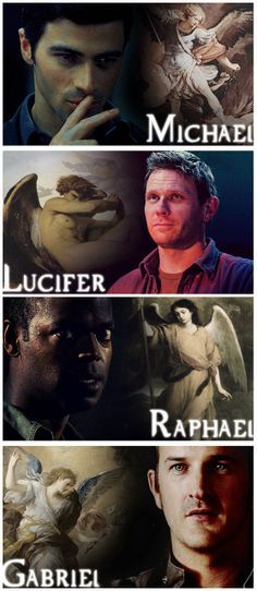 Supernatural Archangels #Michael #Lucifer #Rafael #Gabriel