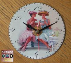 Afternoon Tea 12cm Desk, Shelf and Wall Clock