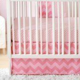 @>  New Arrivals Zig Zag Baby 3 Piece Crib Bedding Set, Pink by New Arrivals