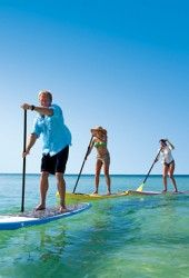 Stand-up paddle-boarding lesson with instructor and co-founder Tom Losee