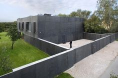 Imposing Concrete Residence in Warsaw: Safe House