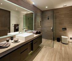 carrelage sol salle de bain effet-bois-meubles-assortis