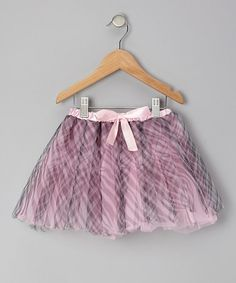 Take a look at this Pink & Black Zebra Tutu - Toddler & Girls by Tulles of Love on #zulily today!9
