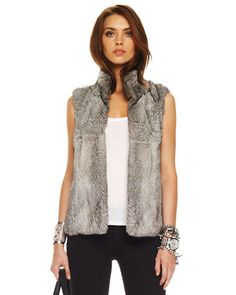 MICHAEL Michael Kors Rabbit Vest, Women\'s .