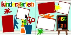 Kindergarten scrapbook pagekit. $8.00
