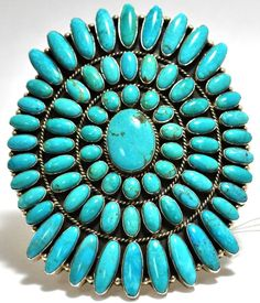 Old Pawn Turquoise  Sterling Silver Cuff Bracelet.......... My mantra: One can never own or wear too much turquoise.