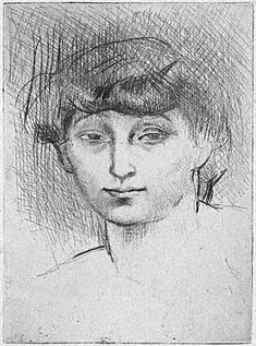 Pablo Picasso drawings | This is a picture Pablo Picasso drew of a young lady.