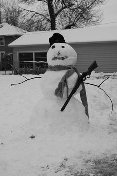 now THIS is a snowman!