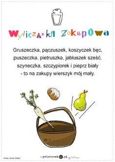 Wyliczanka zakupowa - wiersz - Printoteka.pl