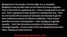 Blasphemy is a necessity.