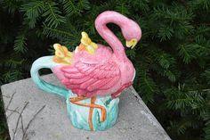 Vintage Pink Flamingo Pitcher by Lotus 1997