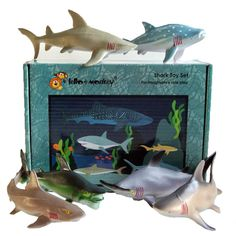 Shark Plastic Toys Set of 6