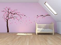 Tree sticker we have got. Tree, some blossom, some birds in white; other blossom and some birds in pink.
