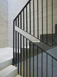 Auszeichnung | Gewerbe- und Industriebauten: Forschungs- und Entwicklungsgebäude Balgrist Campus, Nissen Wentzlaff Architekten BSA SIA AG, Handlaufdetail, © Ruedi Walti, Basel (Step Stairs)