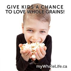 Many adults assume kids will turn up their noses to the #wholegrains, but according to a new study we're wrong! Researchers offered both refined and whole grain foods to preschool children and were pleasantly surprised when the children ate both in equal amounts. Start with easy-to-love choices like #popcorn (home-cooked, not microwave), #oats, #brownrice and #wholewheatbread. Once they start get adjusted to the whole grain living, start replacing refined foods like crackers with whole…