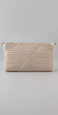 """I'll go for anything nude...  """"House of Harlow 1960, Riley Oversized Clutch"""""""
