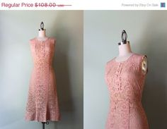 STOREWIDE SALE 1930s Dress / Vintage 30s Sheer Lace by HolliePoint, $86.40