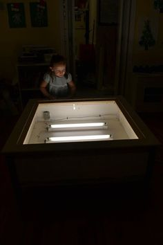 Light table made from a glass top table - PAHM fan Kass Minor.