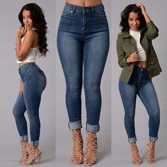 2017 Fashion Sexy Women High Waisted Jeans Soft Skinny Stretchy Pencil Pants Slim Fit Bodycon Women Trousers pantalones mujer 50 -