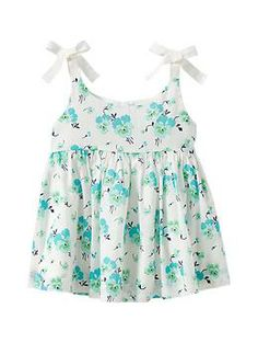 Floral bow tank, GAP. NO DIY, only idea for refashion from vintage sheet to top.