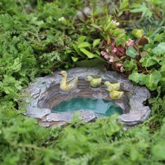 Miniature Dollhouse FAIRY GARDEN ~ Mallard's Pond ~ NEW | Eco Garden Store - love the ducks!