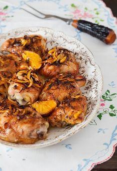Roasted Spicy Orange Chicken Thighs