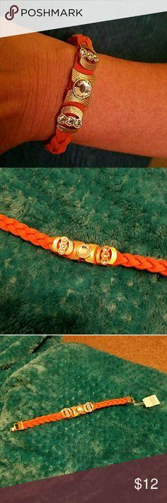 """Lia Sophia Orange Faux Suede Bracelet 7"""" long.  NWT. Lia Sophia Jewelry Bracelets"""