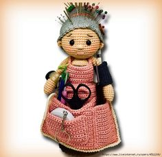 Mesmerizing Crochet an Amigurumi Rabbit Ideas. Lovely Crochet an Amigurumi Rabbit Ideas. Crochet Pincushion, Crochet Amigurumi, Amigurumi Patterns, Amigurumi Doll, Knitting Patterns, Crochet Patterns, Pincushions, Doll Patterns, Free Knitting