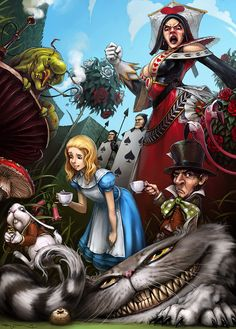 I've just discovered that Wonderland can be a creepy, creepy place. Unlike the Wizard of Oz, Alice in Wonderland has a much darker side, and artists really love to show it off. Oh little Alice, what happened to you? Lewis Carroll, Alice In Wonderland Artwork, Film Disney, Disney Art, Dark Disney, Chesire Cat, Cheshire, Alice Madness Returns, Adventures In Wonderland