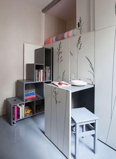 Микро-квартира для няни в Париже, 8 м²