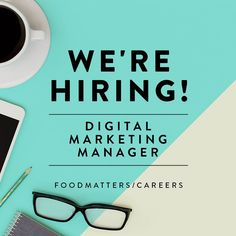 We're Hiring! FMTV is on the hunt for a Digital Marketing Manager. Find out more about the position here: www.foodmatters.com/careers