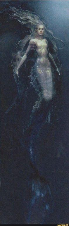Mermaid. Pirates of the Caribbean concept art.