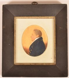 Early 19th Century Miniature Oval Portait Painting on : Lot 520