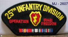 US Army - 25th Infantry Division - Operation Iraqi Freedom Embroidered Patch