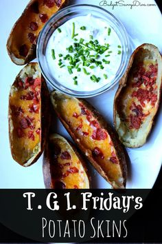 Simple and Easy To Make! - T.G.I. Friday's Potato Skins Recipe #copycatrecipe #potatoskins #recipes #budgetsavvydiva  budgetsavvydiva.com