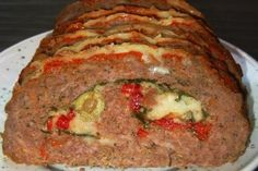 Meatloaf Roulade Recipe on Best Beef Recipes, Ground Meat Recipes, Great Recipes, Whole Food Recipes, Yummy Recipes, Beef Roulade, Roulade Recipe, Italian Christmas Dinner, Recipes
