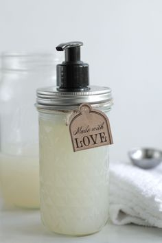 DIY Homemade Liquid Hand Soap. This is the best homemade soap and so easy to make!