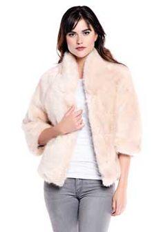 Blush Mink Perfect Little Faux Fur Jacket