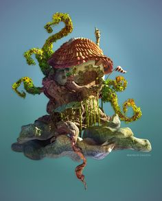 The House on the Tree Picture  (3d, fantasy, tree, house)